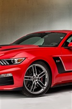 2015 Ford Mustang red supercar side view