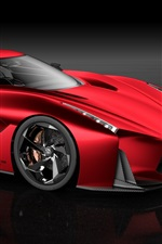 Preview iPhone wallpaper 2015 Nissan Concept red supercar, 2020 Vision Gran Turismo