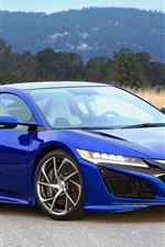 2016 Acura NSX blue luxury supercar