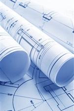 iPhone обои Архитектурное проектирование, формы, бумага