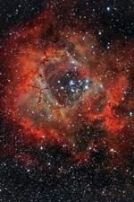 Preview iPhone wallpaper Beautiful nebula, rosette, NGC 2237, space, stars