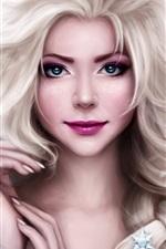 Beautiful princess, Frozen, Elsa, art drawing