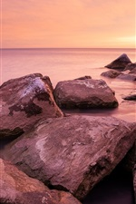 Preview iPhone wallpaper Chicago, Hyde park, Michigan shore, sunrise, sea