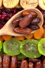 Preview iPhone wallpaper Dried fruit, kiwi, apricots, figs