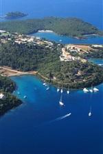 Greece, Sivota, sea, coast, yachts, Islands, blue