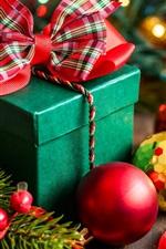 Happy New Year, Merry Christmas, decoration, box, gift, balls