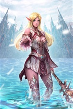 Preview iPhone wallpaper Lineage 2, beautiful girl