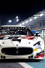 Maserati GranTurismo MC GT4 race car front view