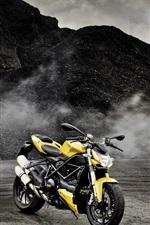 iPhone fondos de pantalla Mercedes-Benz Clase SLK R172 coche amarillo, Ducati moto
