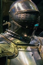 Preview iPhone wallpaper Metal armor, knight