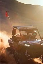 Race car, sports, dust, sun