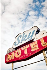 Preview iPhone wallpaper Sky motel in USA