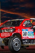 Preview iPhone wallpaper Toyota Hilux SUV car, Dakar Rally