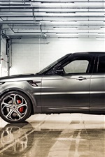 Preview iPhone wallpaper 2014 Range Rover sport silver SUV car side view