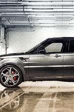 미리보기 iPhone 배경 화면 2014 레인지 로버 스포츠 실버 SUV 자동차 측면보기