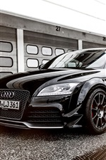Preview iPhone wallpaper 2015 Audi TT RS coupe, black car