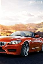 2015 BMW Z4 E89 orange car speed