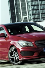 2015 Mercedes-Benz CLA 250 red color car