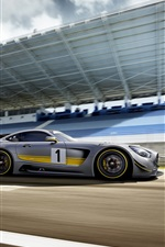 2015 Mercedes-Benz GT3 AMG silver supercar speed