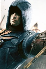 Preview iPhone wallpaper Assassin's Creed: Unity, crossbow, hand