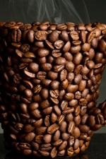 Os grãos de café copo