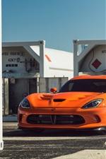 Preview iPhone wallpaper Dodge Viper orange supercar front view