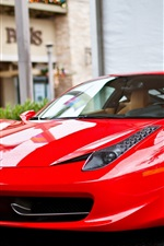 Preview iPhone wallpaper Ferrari 458 Italia red supercar front view
