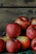 Fresh fruits, red apples, berries