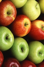 Preview iPhone wallpaper Fruits close-up, red and green apples
