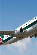 Preview iPhone wallpaper Italy, Alitalia Embraer E175 airplane, flight
