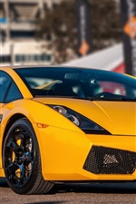 iPhone fondos de pantalla Lamborghini Gallardo superdeportivo amarilla vista frontal