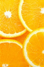 Preview iPhone wallpaper Lemon slice, oranges, fruit, yellow