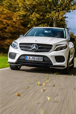 Preview iPhone wallpaper Mercedes-Benz AMG GLE-Class W166 white car front view