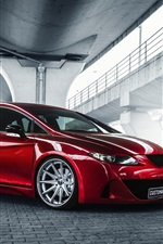 Preview iPhone wallpaper Seat Leon red car