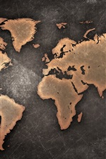 Preview iPhone wallpaper World Map, Continents, creative design