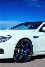 2015 BMW M6 Coupe F13 white car