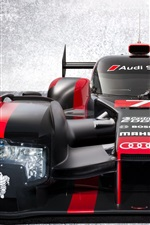 Preview iPhone wallpaper Audi R18 e-tron supercar front view