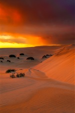 Preview iPhone wallpaper Australian, desert, sand, sunset, clouds