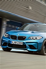 Preview iPhone wallpaper BMW M2 F87 blue car speed