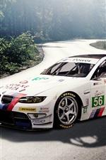 BMW M3 E92 white sport car