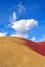 Preview iPhone wallpaper Desert, sand, dunes, blue sky, clouds