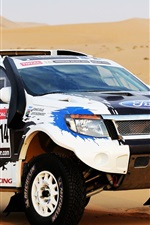 Preview iPhone wallpaper Ford SUV car, Dakar Rally 2014