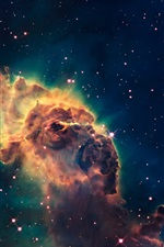 Preview iPhone wallpaper Hubble telescope, universe, stars, nebula