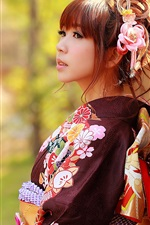 Preview iPhone wallpaper Japanese girl, Asian, kimono clothes
