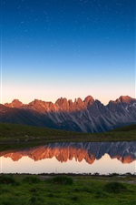 Preview iPhone wallpaper Lake, mountains, water reflection, nature scenery