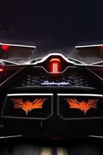 Preview iPhone wallpaper Lamborghini Egoista concept supercar rear view