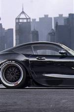 미리보기 iPhone 배경 화면 메르세데스 - 벤츠 AMG GT S 블랙 초차 측면보기