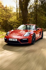 Preview iPhone wallpaper Porsche 911 and 991 red supercars, speed, road
