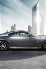 Preview iPhone wallpaper Rolls-Royce Wraith luxury car in city