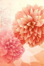 Preview iPhone wallpaper Vector picture, flower, petals, bud, pink
